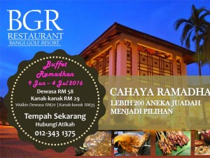 Bangi Golf Resort Pakej Buffet Ramadhan Murah