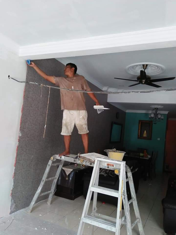 Tunkang Pasang Tiles Dan Wairing Siling Cat Buat Bumbung Kuala Lumpur M Niaga